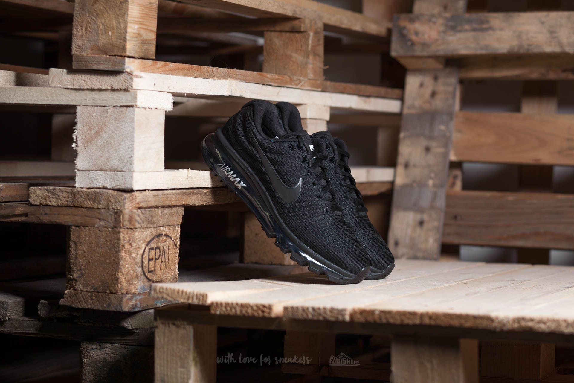 ea9443a6e010 Nike Air Max 2017 Black  Black-Black