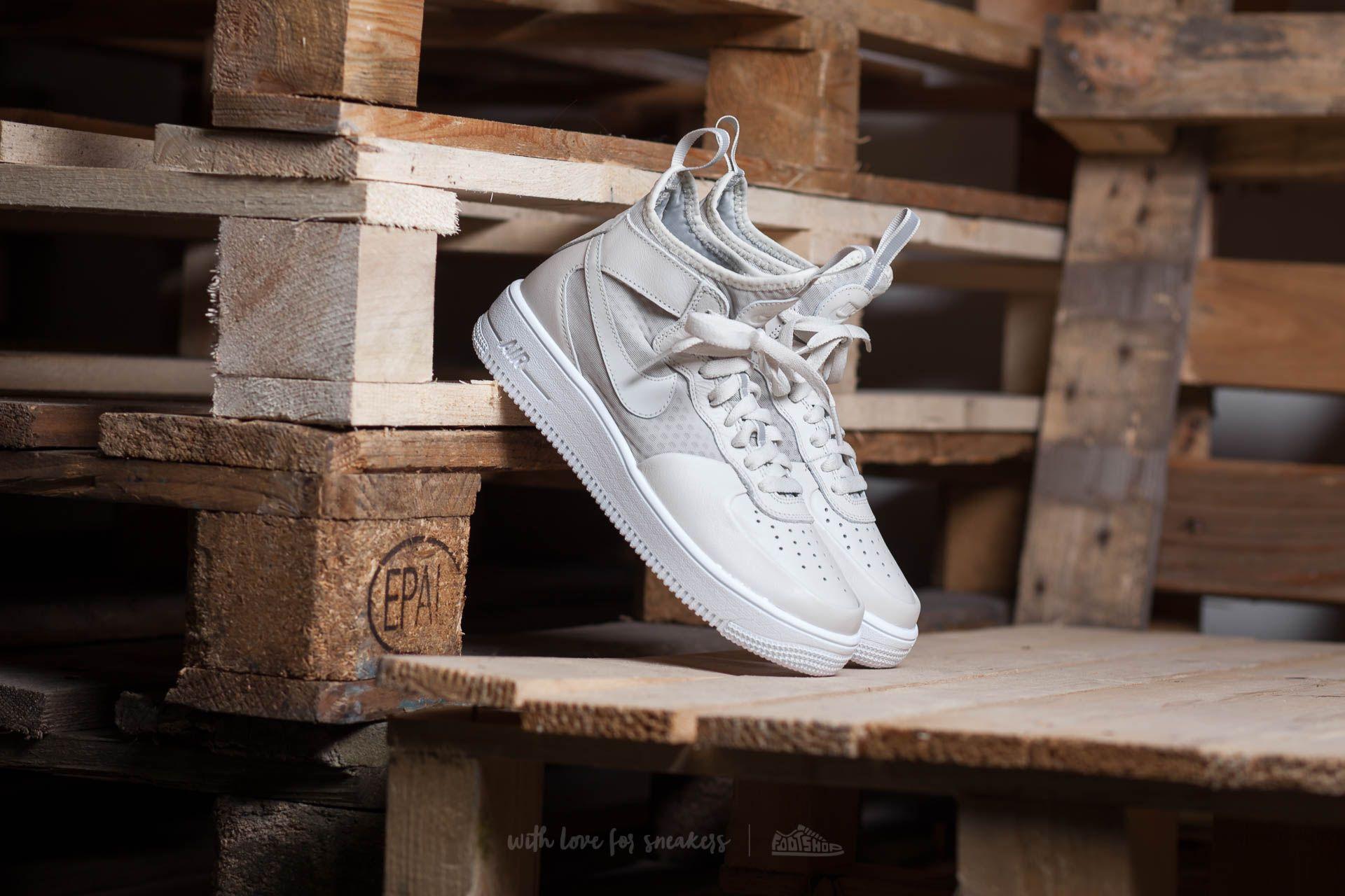 Nike W Air Force 1 Ultraforce MID Light Bone Light Bone White | Footshop