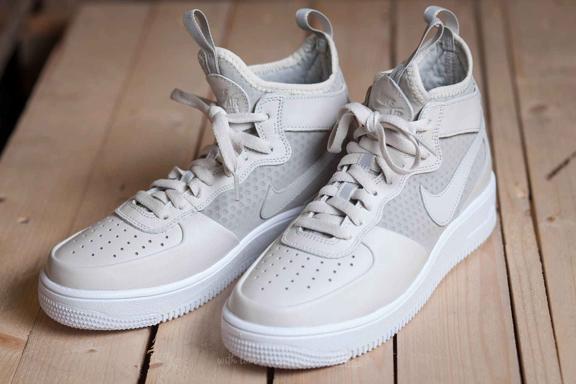 Nike W Air Force 1 Ultraforce MID Light Bone Light Bone White | Footshop