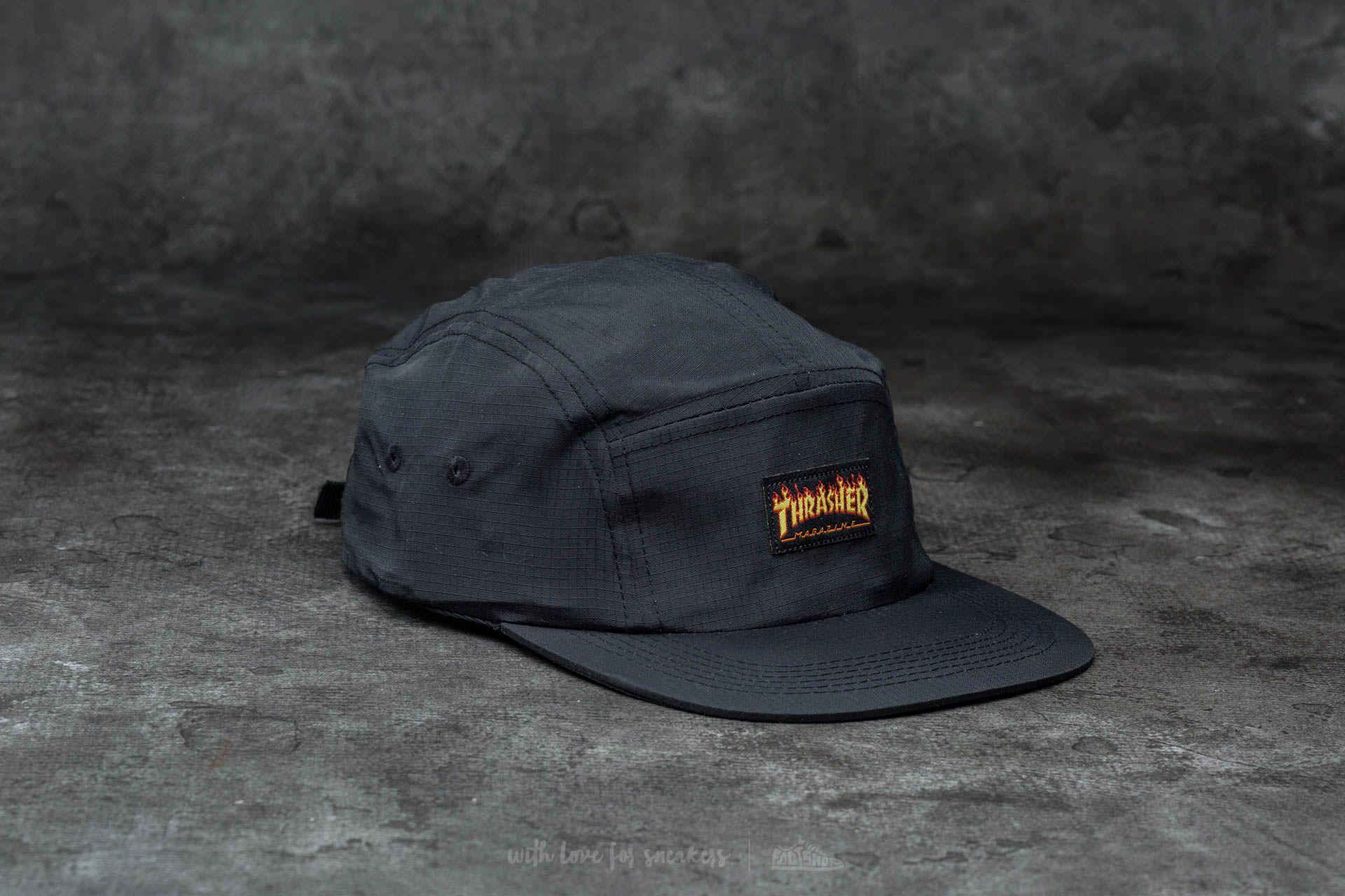 e3f17c825d7 Thrasher Flame Logo 5-Panel Hat Black