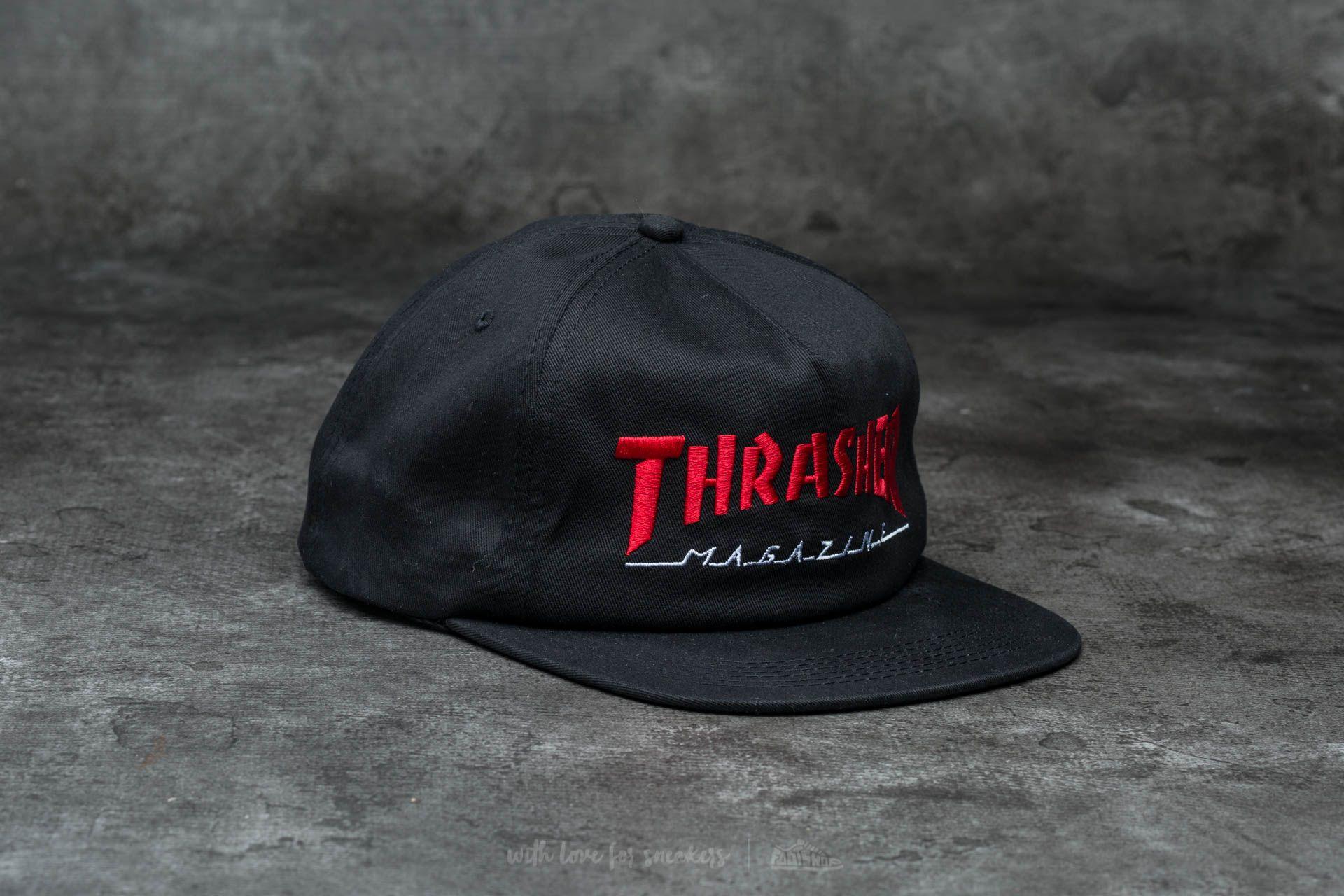 7fdc45fc43e Thrasher Magazine Logo Two-Tone Hat Black  Red