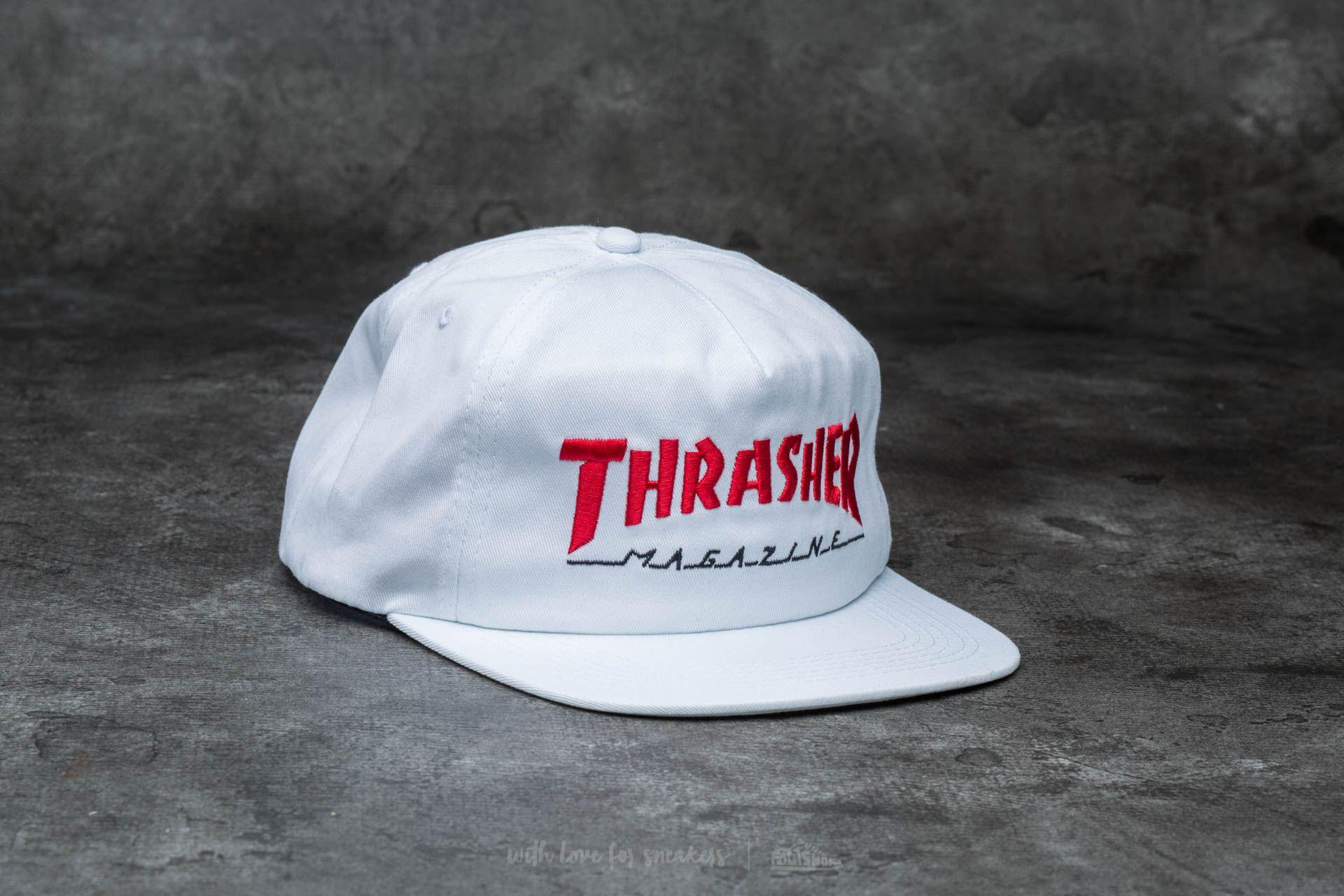 975d9353a59 Thrasher Magazine Logo Two-Tone Hat White  Red