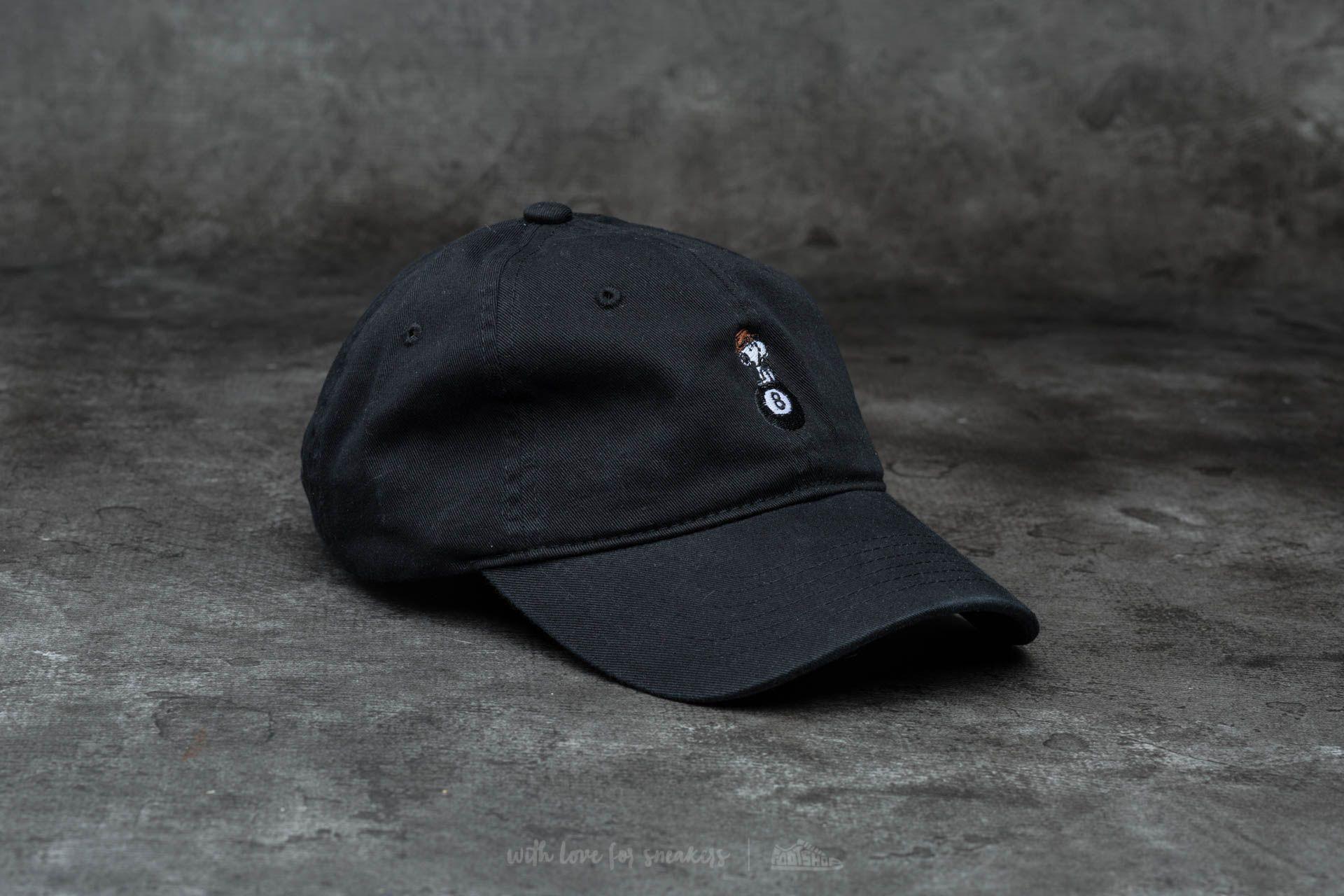 d2d8466b638 HUF Apparel Spike 8 Ball Curve Brim Cap Black