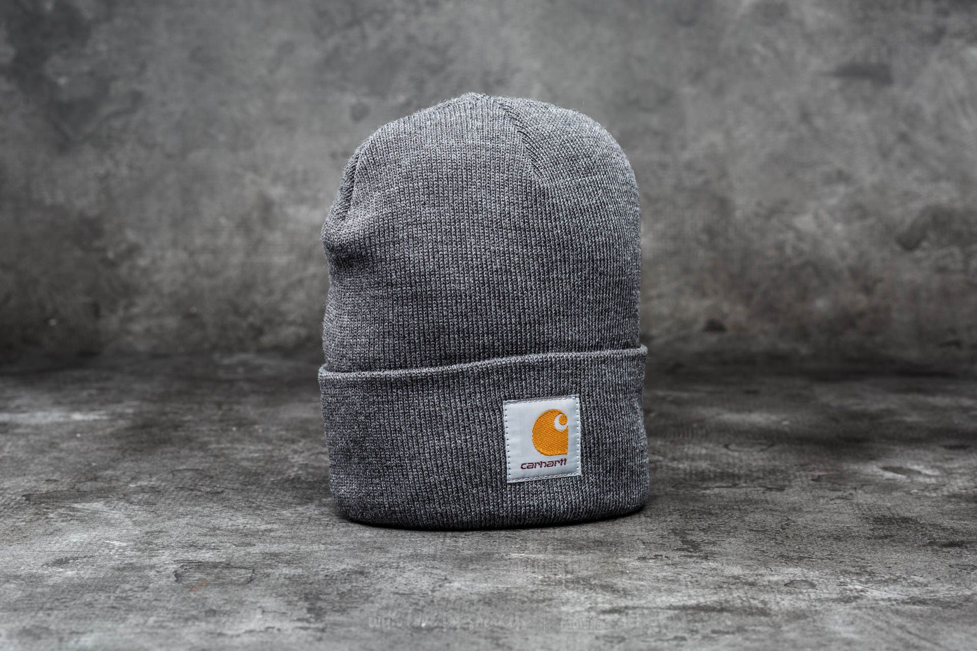 217364929583e Carhartt WIP Short Watch Hat Dark Grey Heather