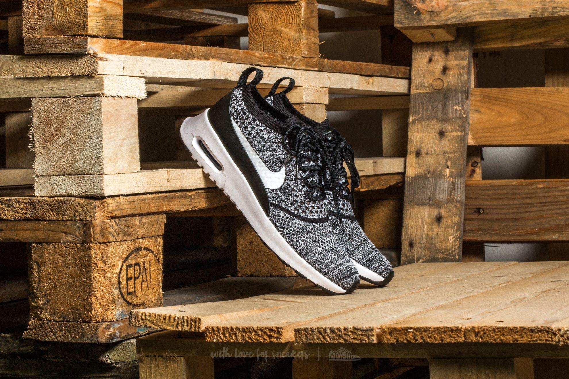 Nike W Air Max Thea Ultra Flyknit Black White   Footshop