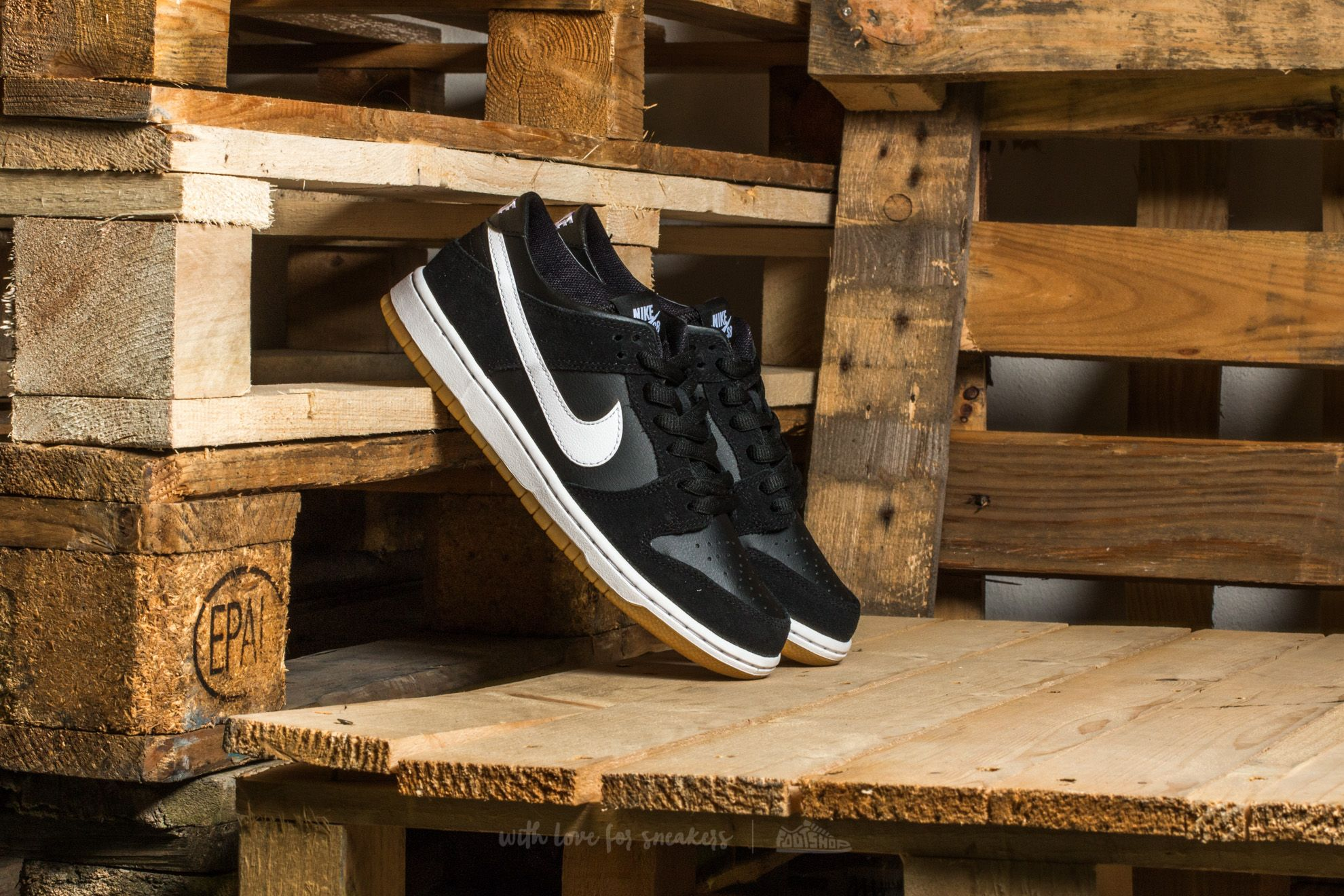 Nike Sb Zoom Dunk Low Pro Black/ White-Gum Light Brown | Footshop