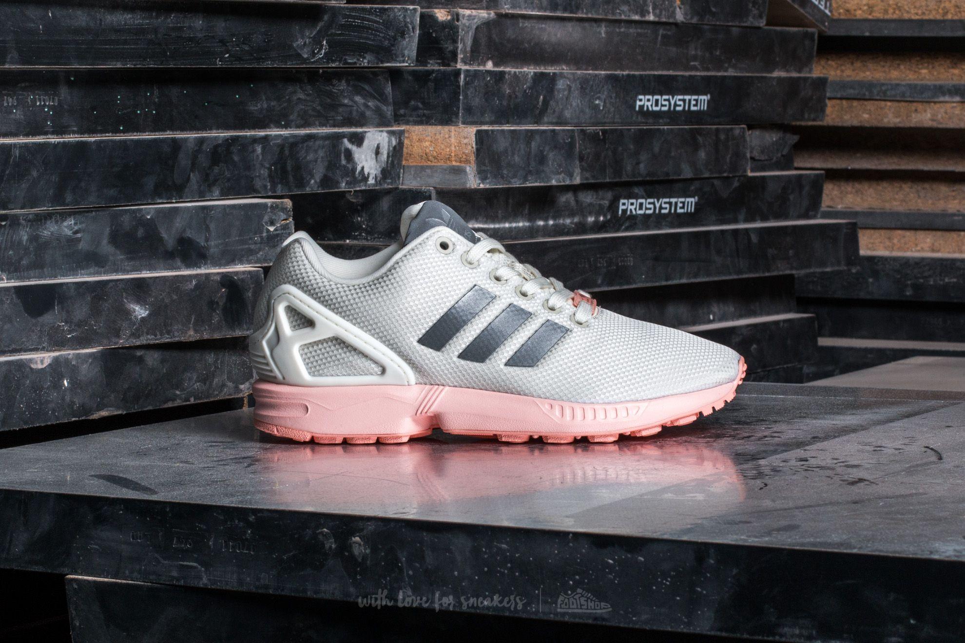 super popular 59be3 19e5a adidas ZX Flux W Ftw White/ Metallic Silver/ Haze Coral ...