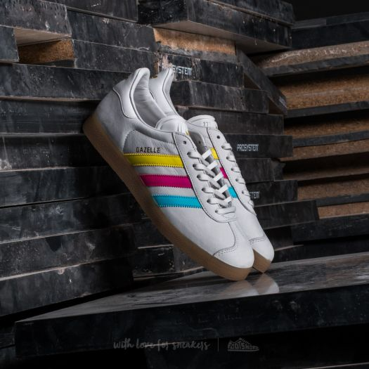 usine authentique a285c 1483c adidas Gazelle Vintage White/ Bright Cyan/ Shock Pink ...