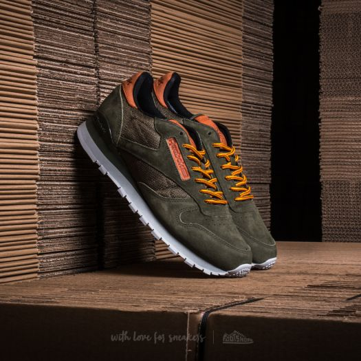 Homme Running Reebok Classic Leather OL chaussures olive