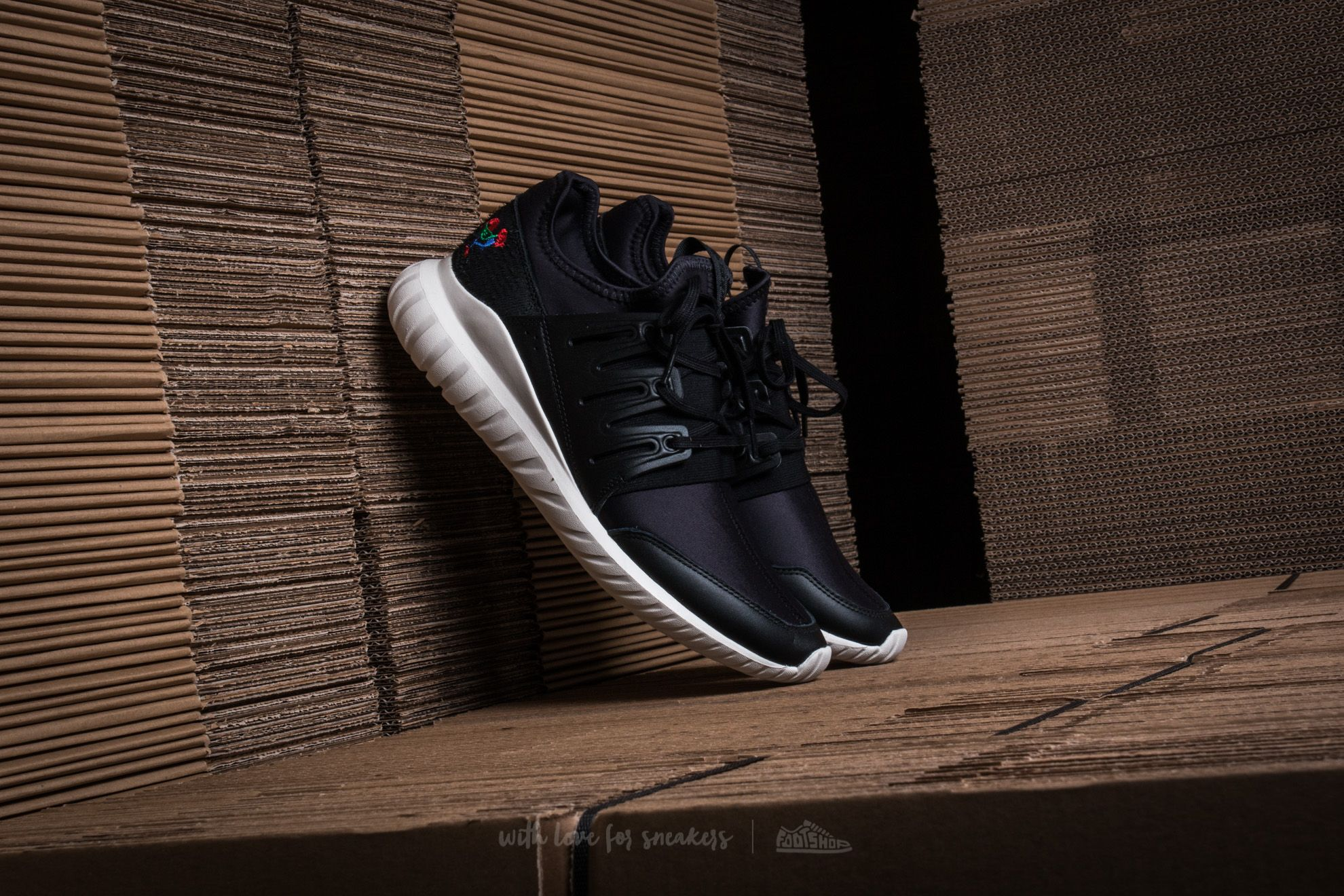 adidas Tubular Radial CNY Core Black  Core Black  Core White 13232b47c