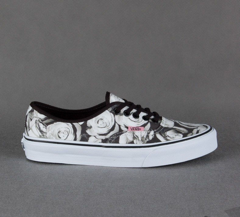 ff7fa46352 Vans Authentic (Digi Roses) Black True White