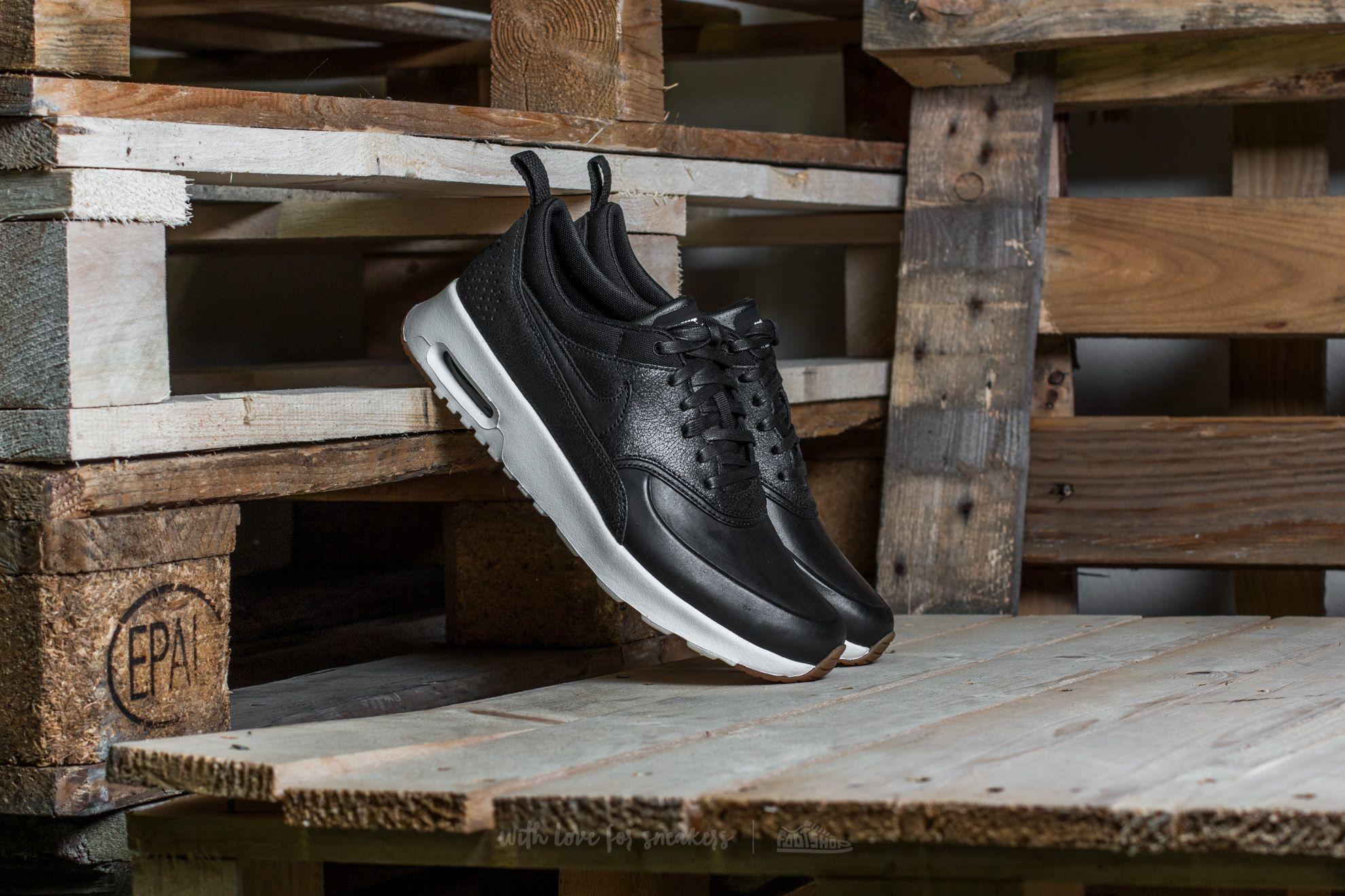5efc772732 Nike Wmns Air Max Thea Premium Black/ Black-Sail-Gum Medium ...