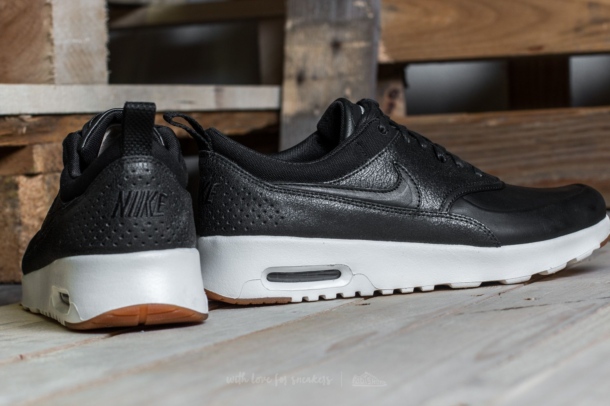 Nike Wmns Air Max Thea Premium Black Black Sail Gum Medium Brown | Footshop