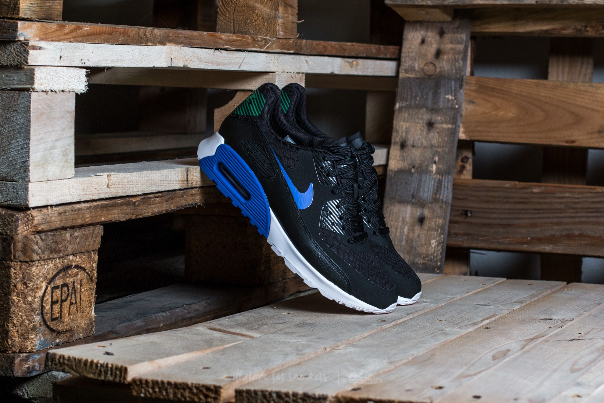 Men's shoes Nike W Air Max 90 Ultra 2.0 Black/ Paramount Blue-White