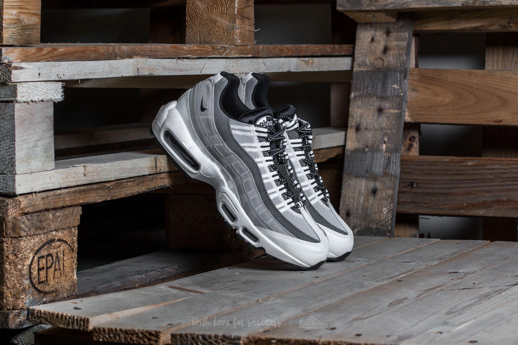 Nike Air Max 95 Essential White  Black-Wolf Grey  64ae2aea1e44