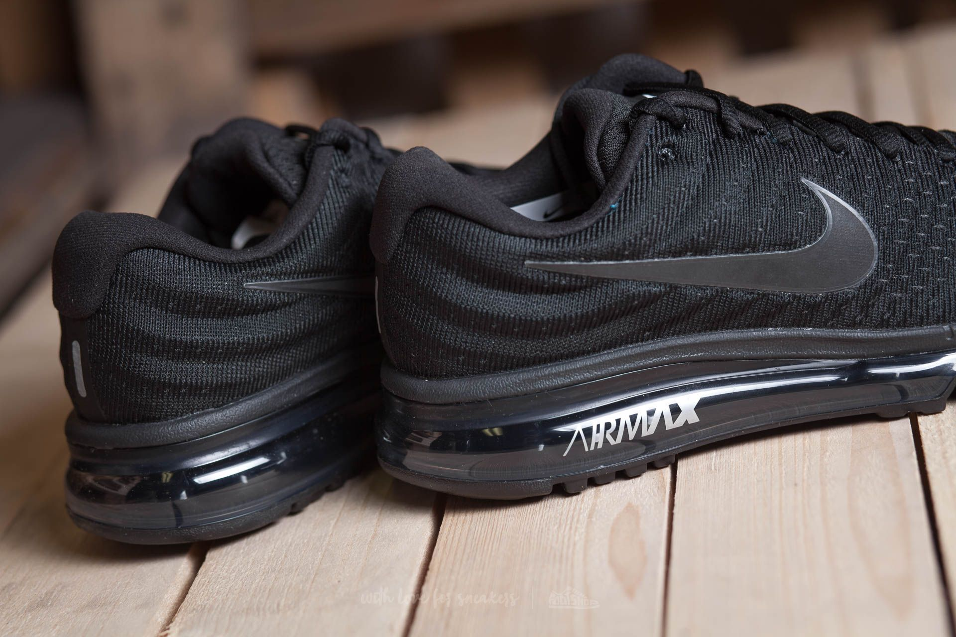 nike air max running black