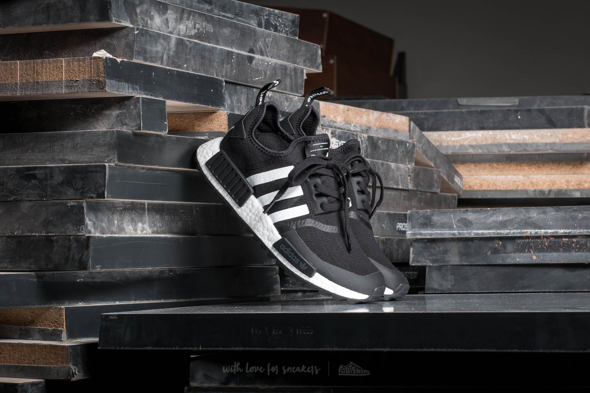 235b9dff9 adidas White Mountaineering NMD Trail Primeknit Core Black/ Ftw ...