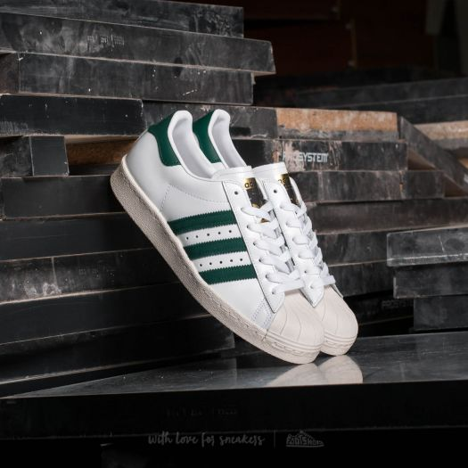 new concept f3469 90c7f adidas Superstar 80s Ftw White/ Collegiate Green/ Gold ...
