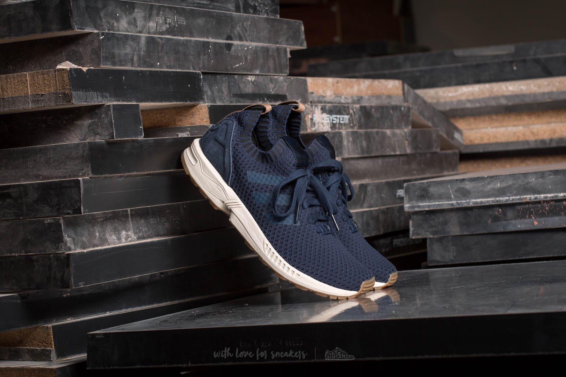 cómodo Que pasa pago  Men's shoes adidas ZX Flux Primeknit Collegiate Navy/ Collegiate Navy/ Gum  | Footshop