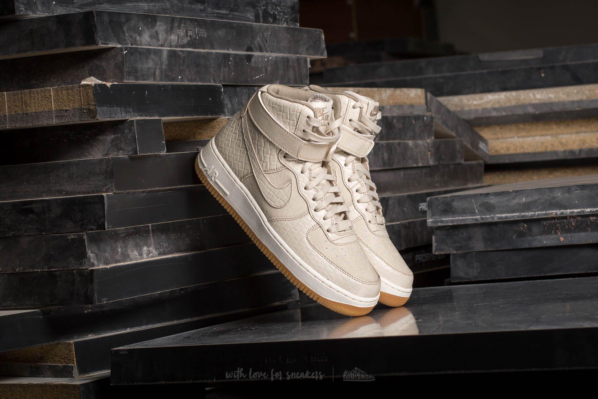 Nike Air Force 1 '07 Mid Leather Premium Oatmeal Black
