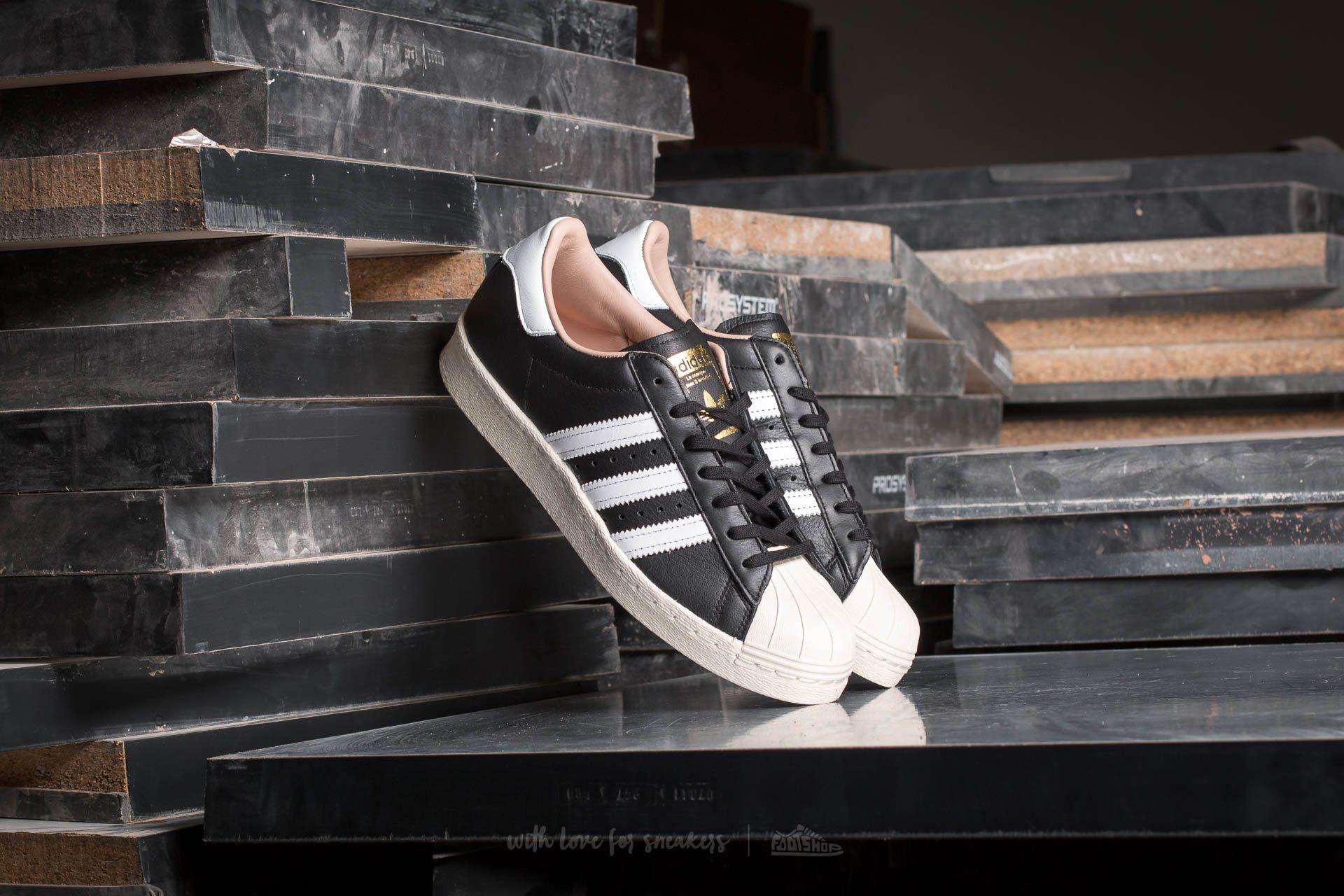 adidas W Superstar 80s Core Black  Ftw White  Off White  b0da48dc176