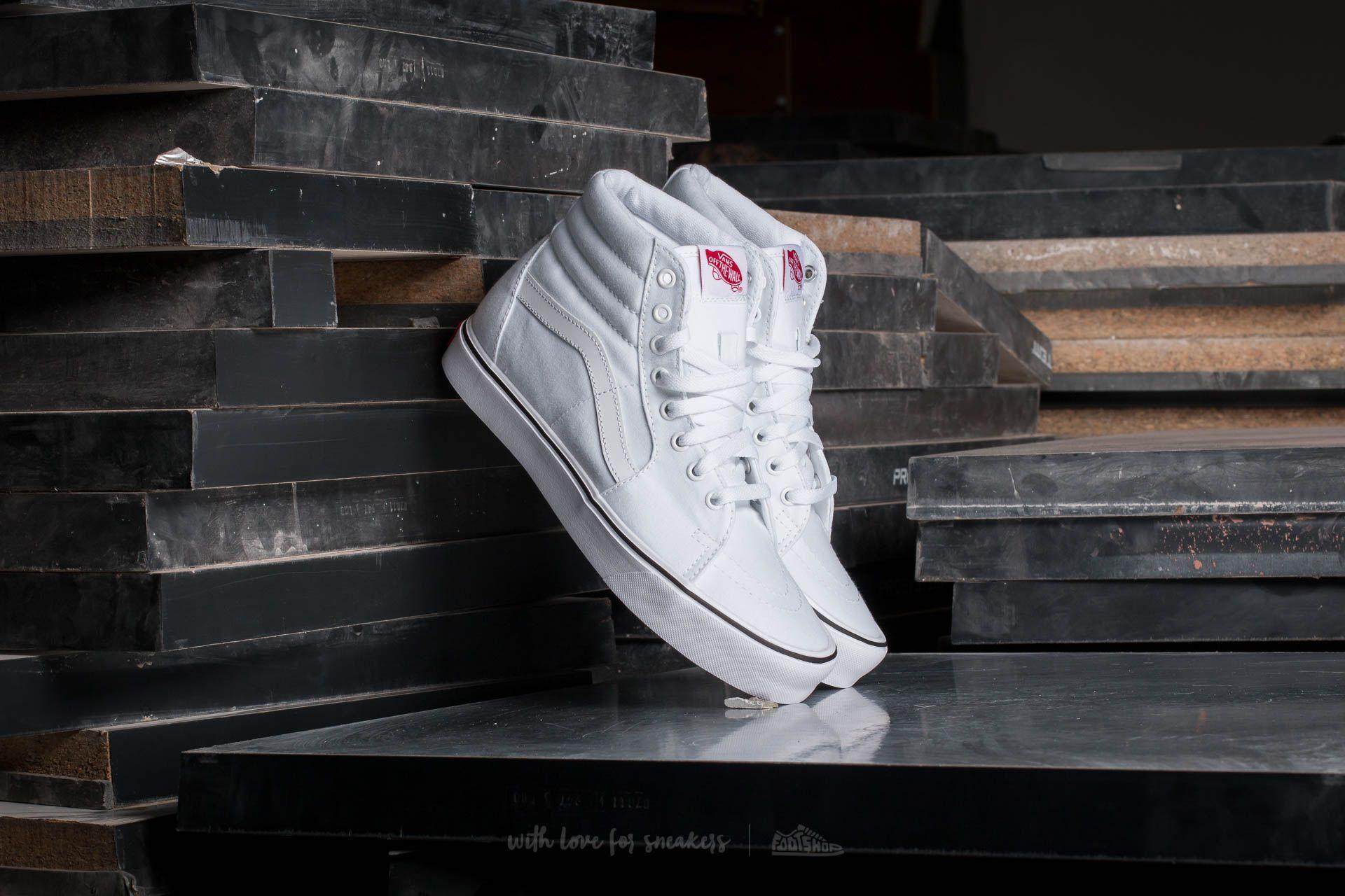 e96d48be1c1 Vans Sk8-Hi Lite (Canvas) True White