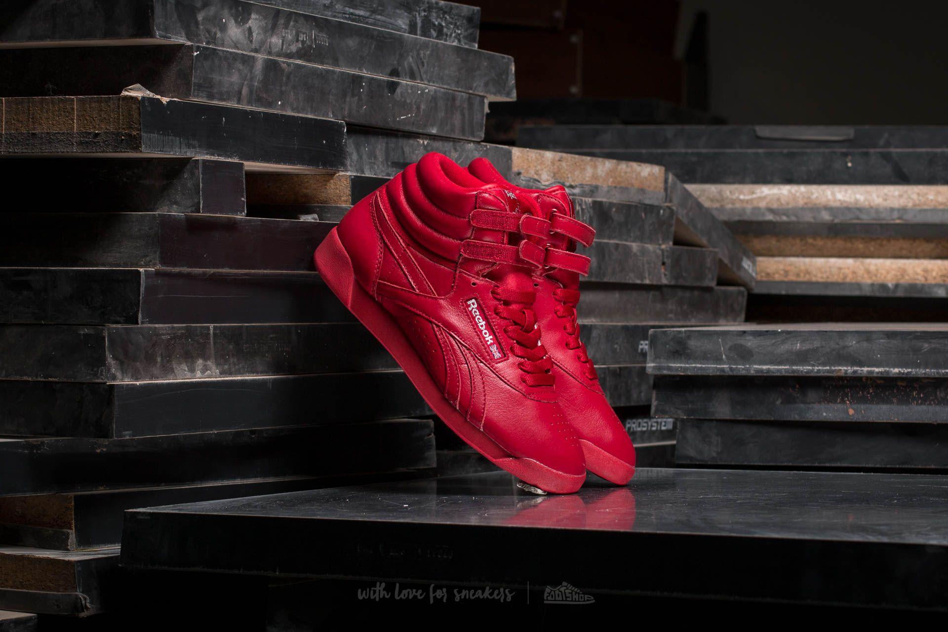 Reebok Freestyle Hi OG Lux Excellent Red  Grey  Gold  4f52ad50b