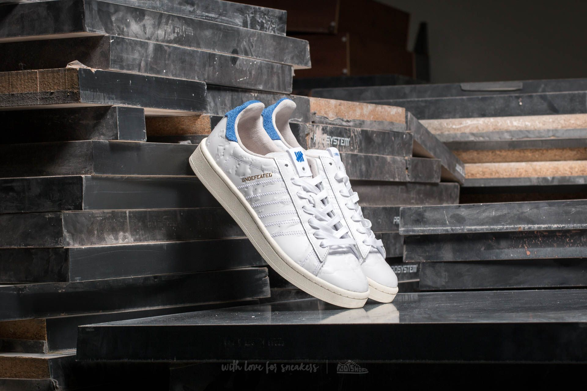 purchase cheap 3ad56 50918 adidas x Colette x Undefeated Campus S.E. Ftw White/ Core ...