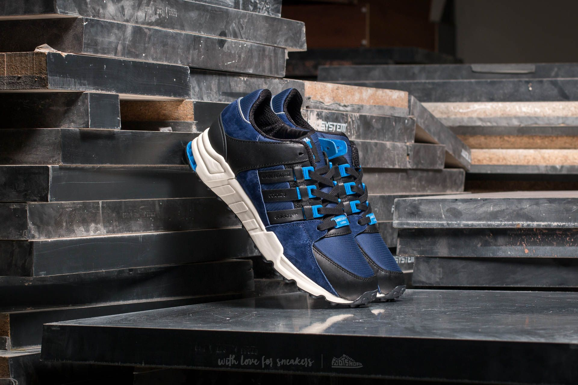 new product 7a3eb 96af5 adidas x Colette x Undefeated EQT Support S.E. Dark Blue/ Core ...