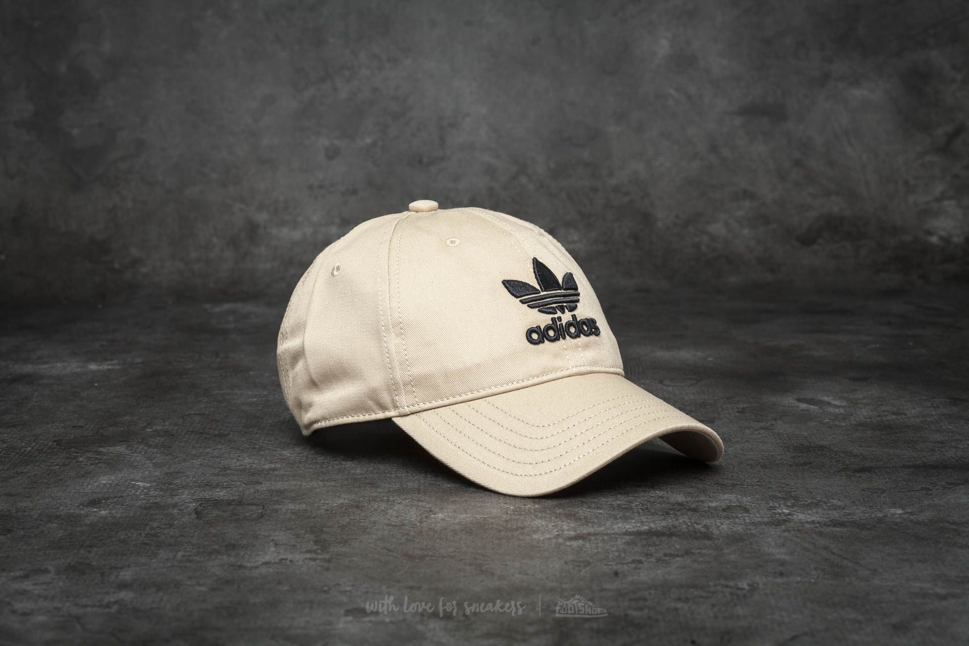 30627838f1d adidas Trefoil Cap Linen Khaki  Black