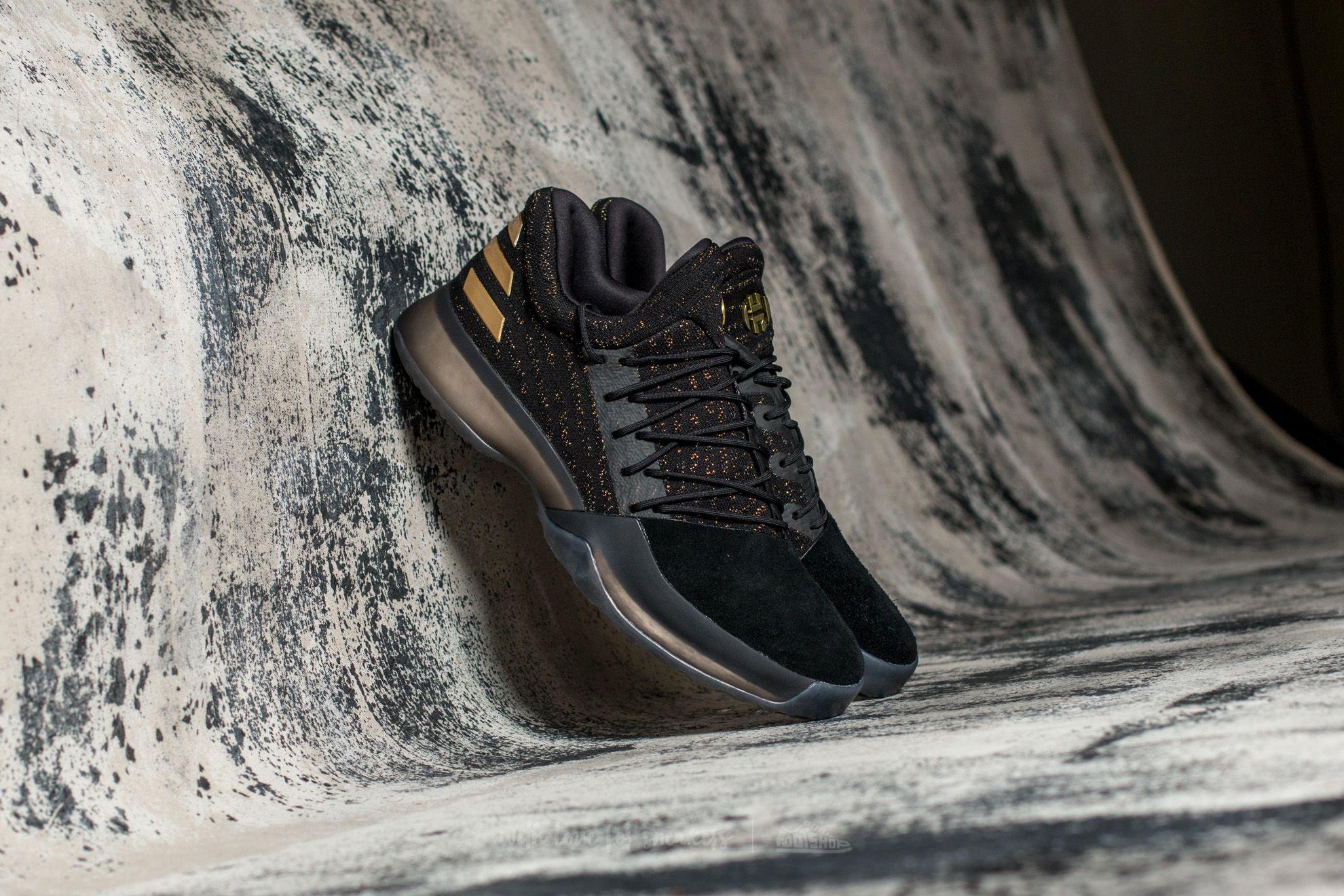 adidas Harden Vol. 1 Primeknit Black  Gold  White  4062a278a