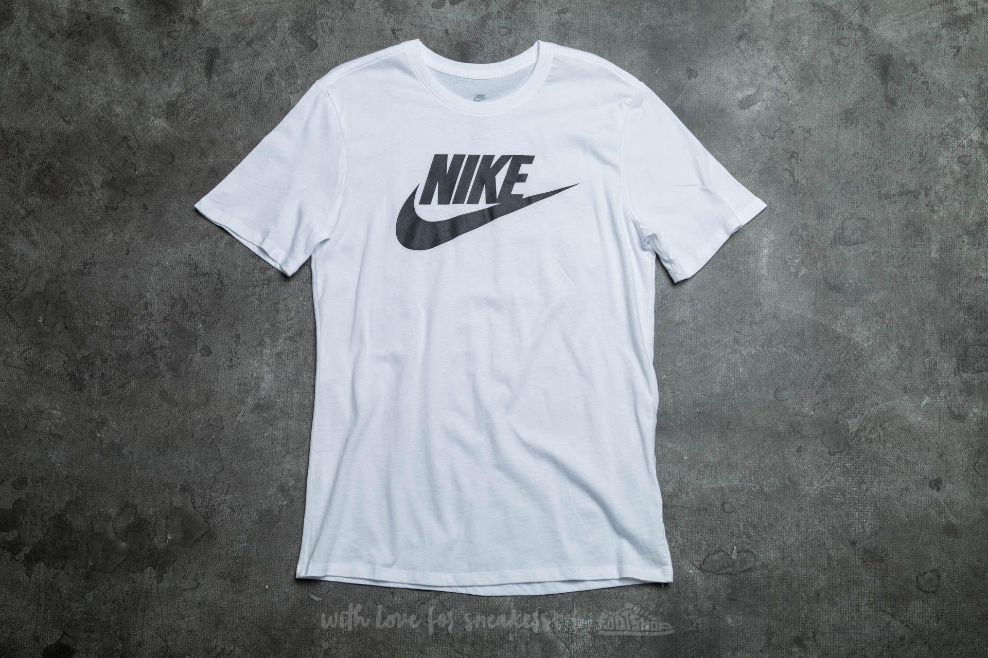 ef4761240 Nike Futura Icon Tee White/ Black | Footshop