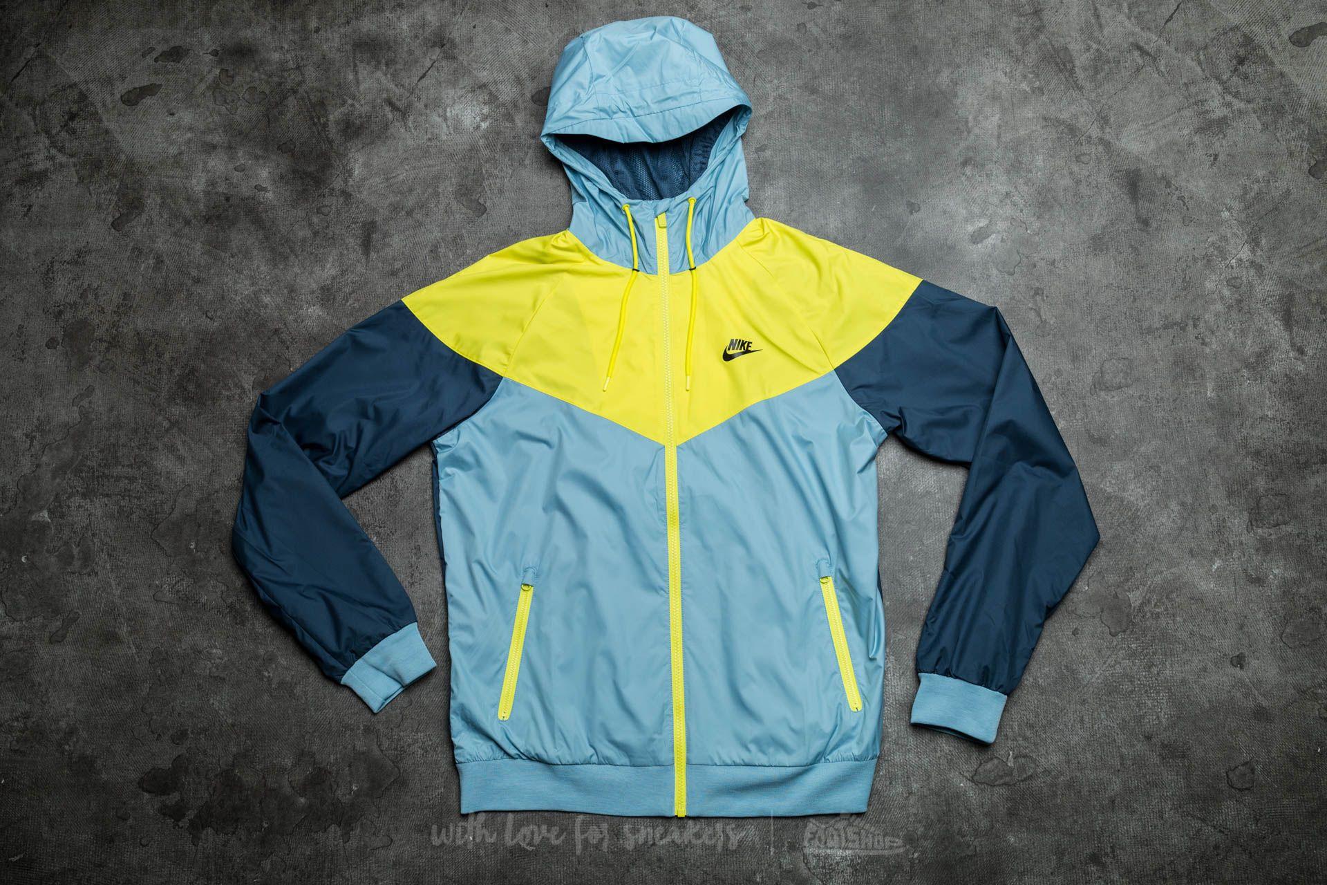de7a820e43 Nike Sportswear Windrunner Mica Blue  Electrolime  Squadron Blue  Black