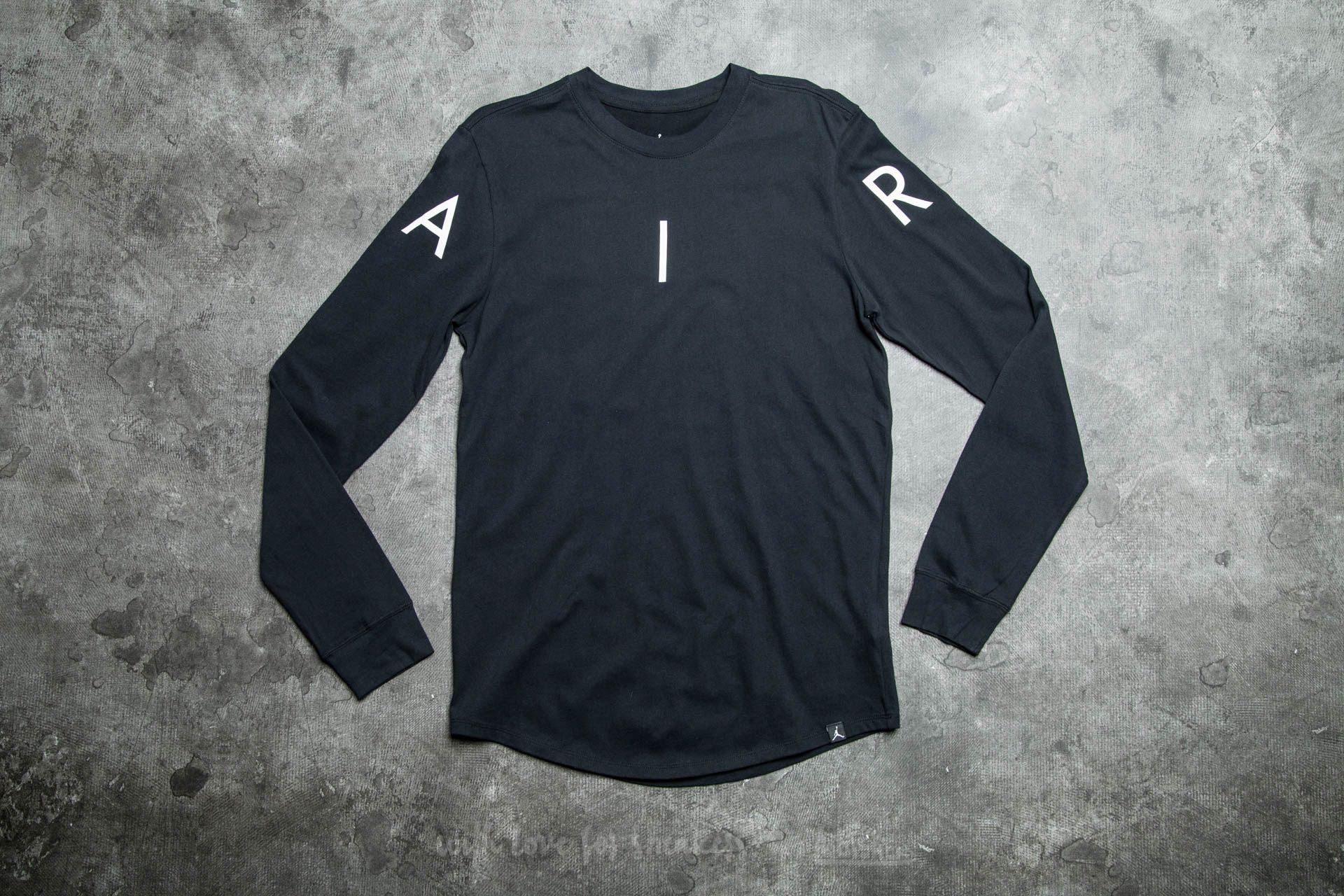 2cf1b6eece47 Jordan A.I.R. Long Sleeve Tee Black  White