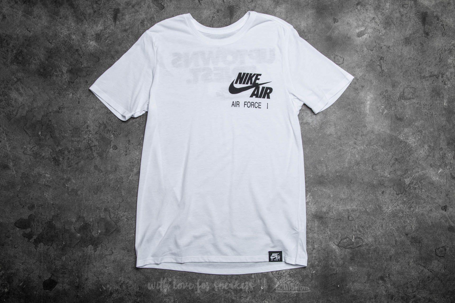 Nike Sportswear Air Force 1 Uptown's Finest Tee White Black | Footshop