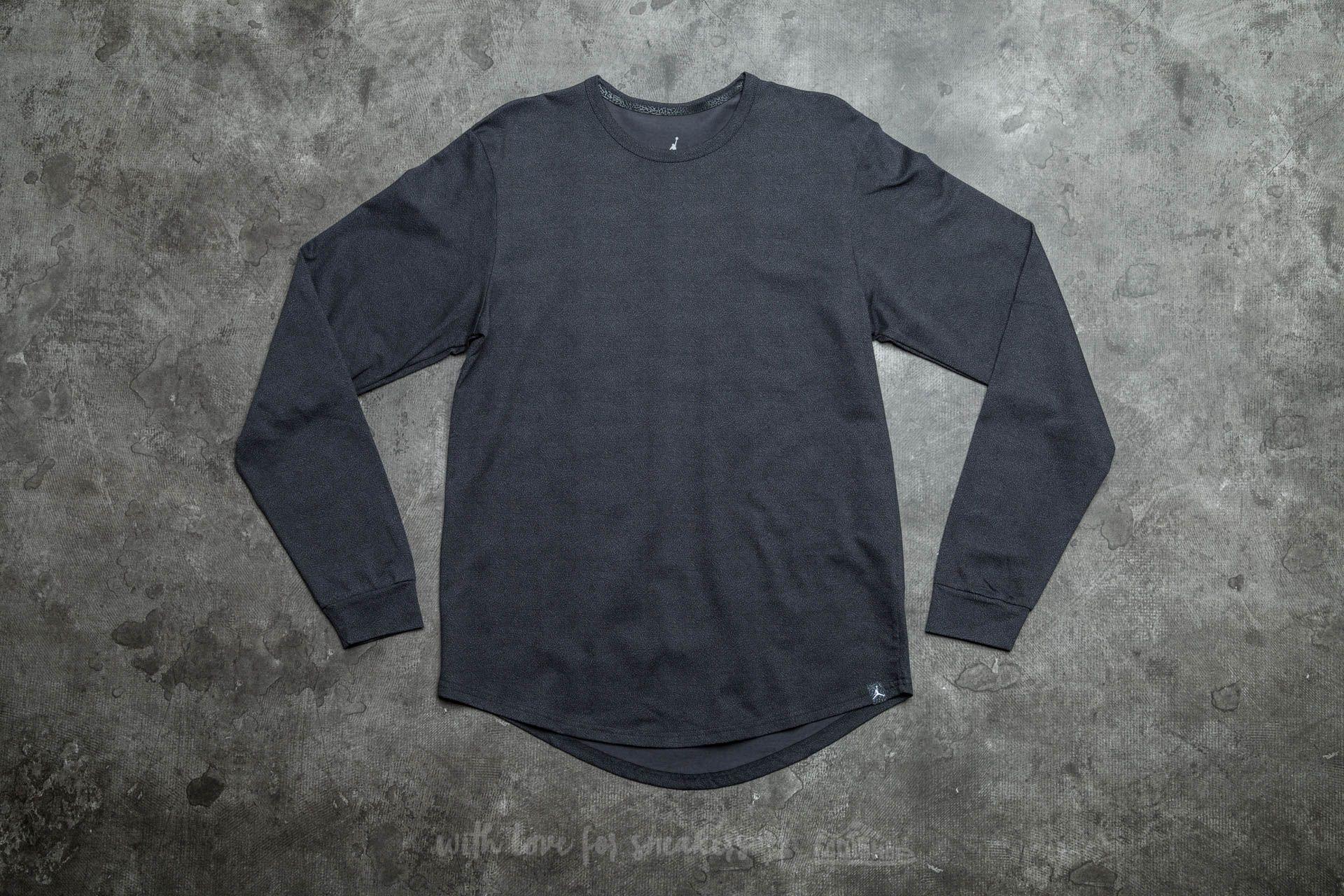 6525466ebc Jordan 23 True Elephant Print Long Sleeve Tee Anthracite | Footshop