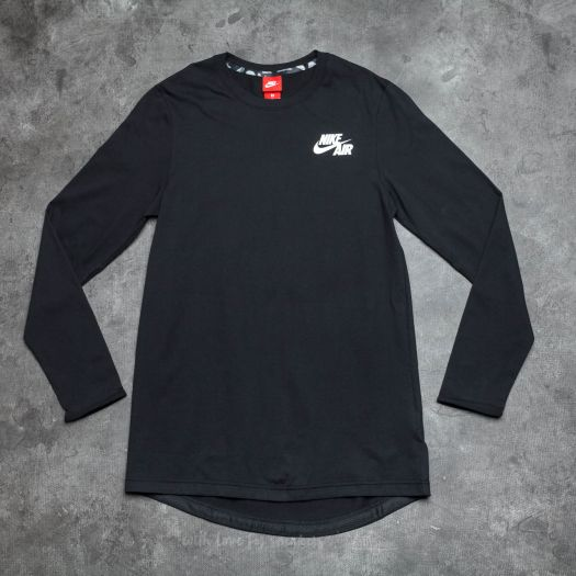 Nike Air Long Sleeve Top Black White   Footshop
