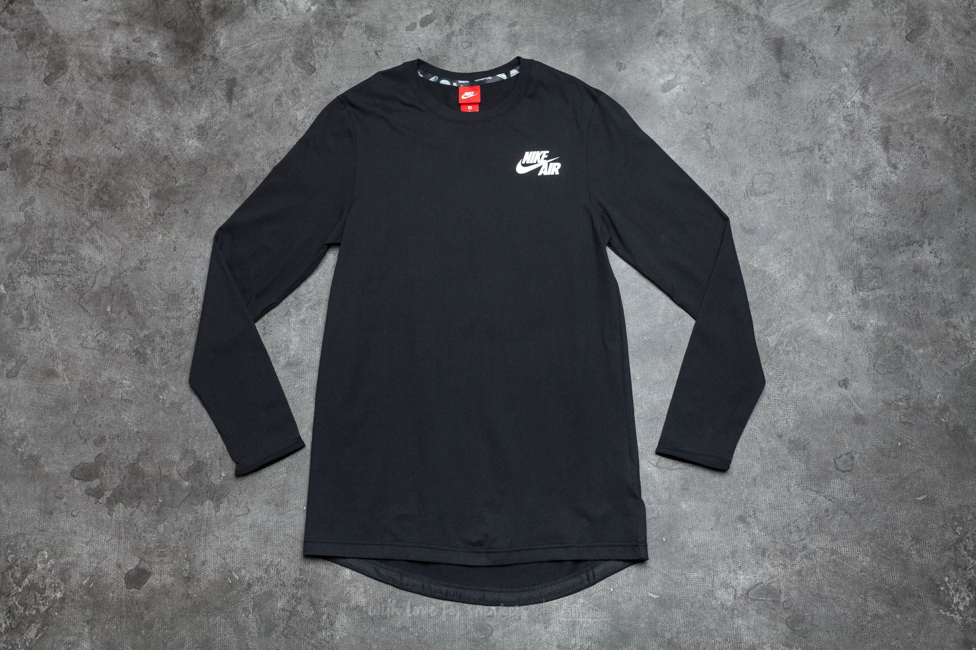 751f0eef4451 Nike Air Long Sleeve Top Black  White