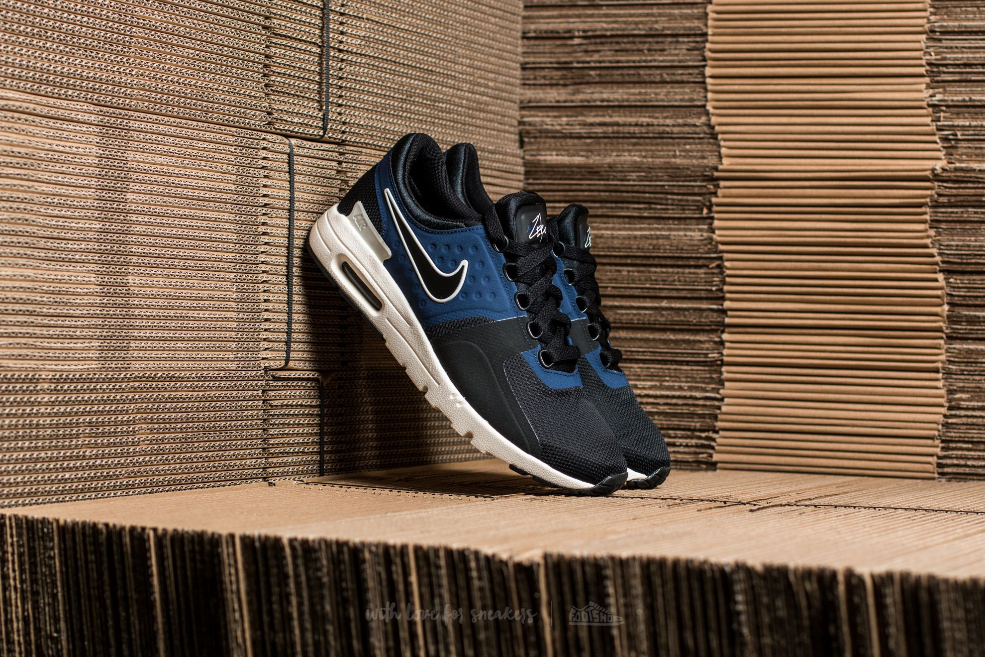 Nike W Air Max Zero Black  Black-Ivory-Binary Blue at a great a89174938