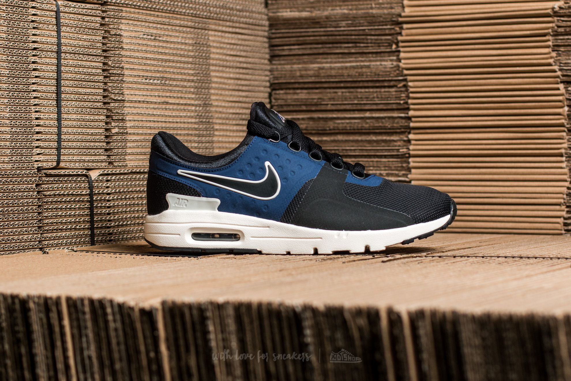 release info on 2d93e be9ad Nike W Air Max Zero Black Black-Ivory-Binary Blue at a great