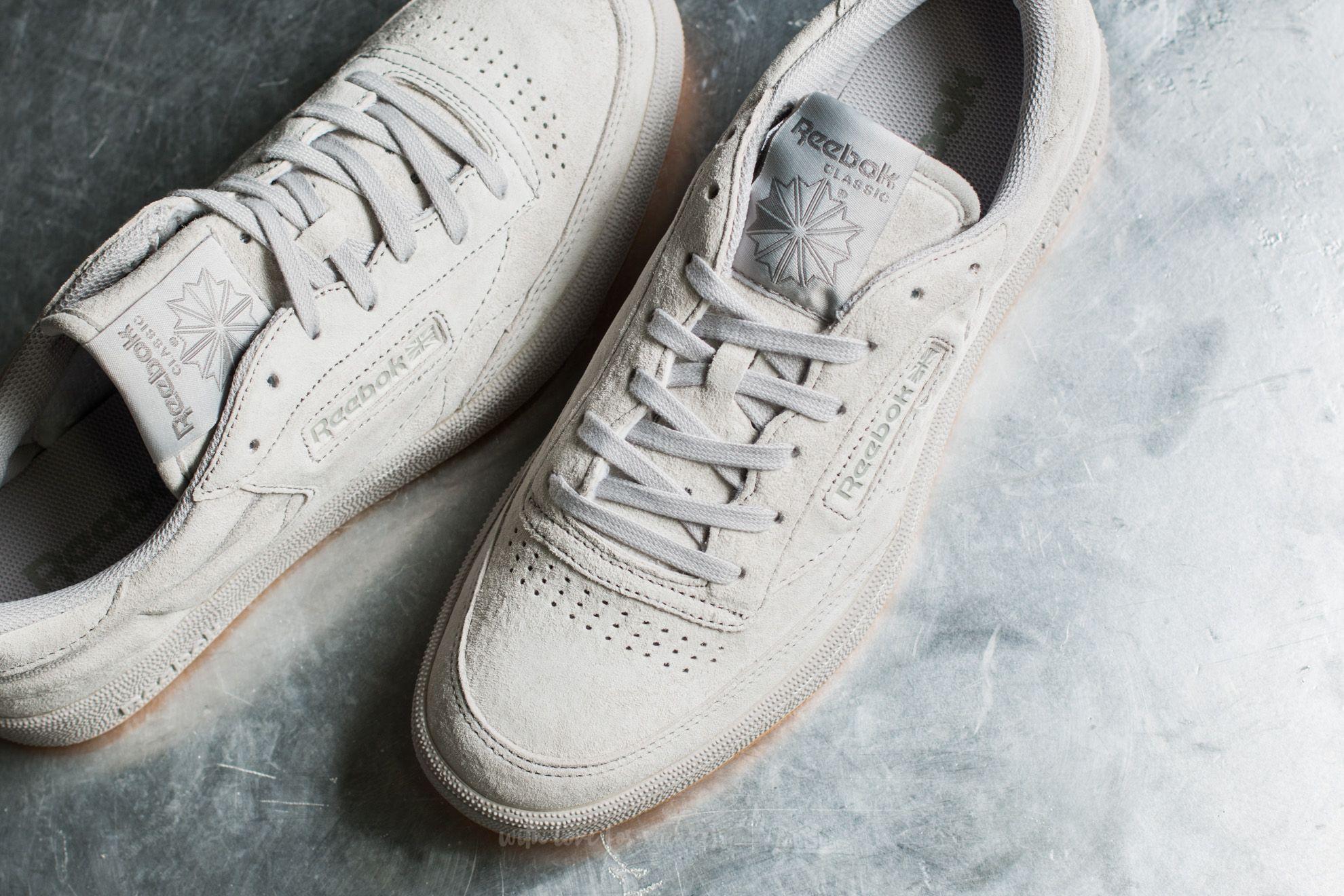 Men S Shoes Reebok Club C 85 Tg Steel Carbon Gum