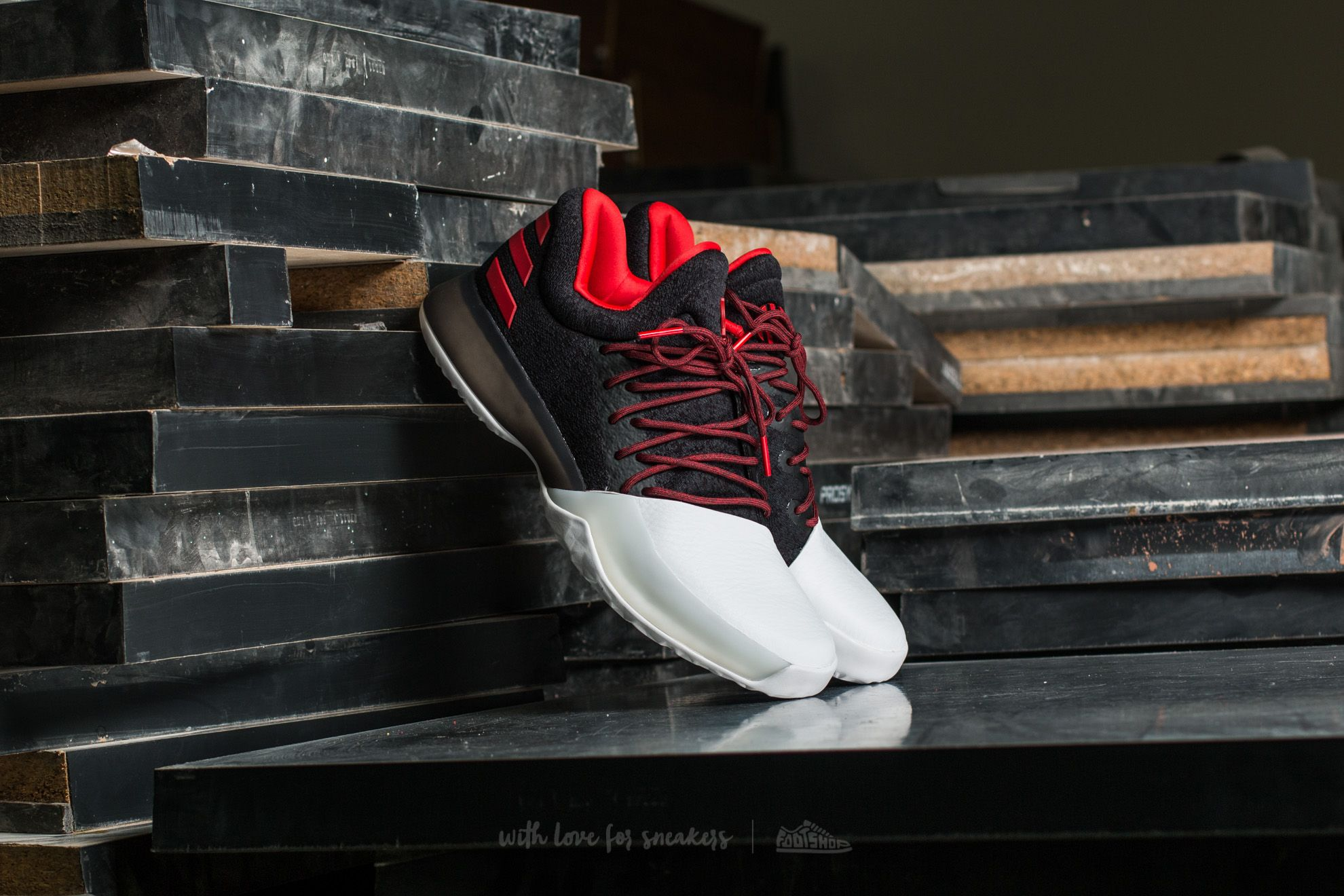 sports shoes 0d1bd dc6c8 adidas Harden Vol. 1. Core Black  Scarlet  Footwear White