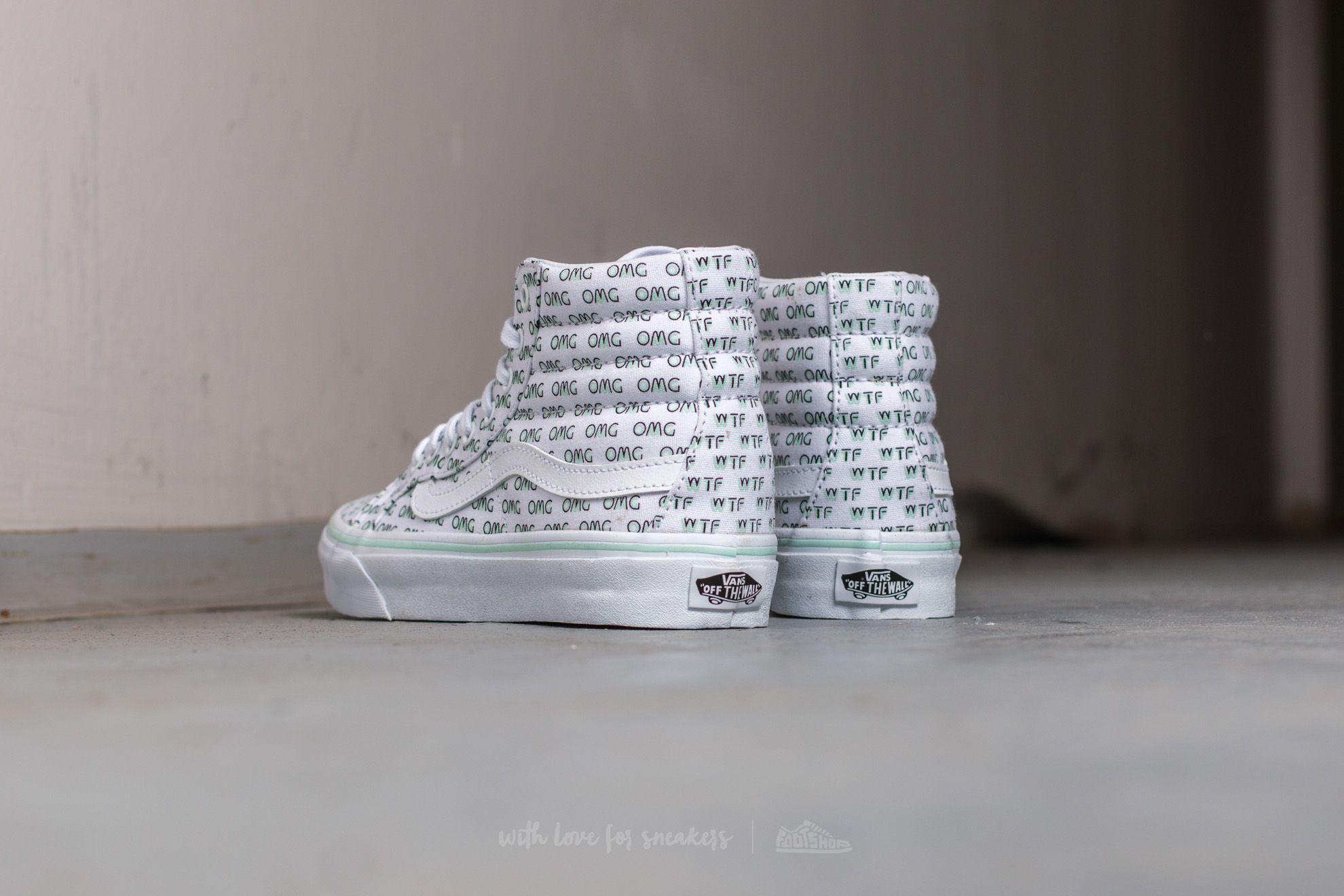 Vans Sk8 Hi Slim (Metallic Dots) Dark Grey | Footshop
