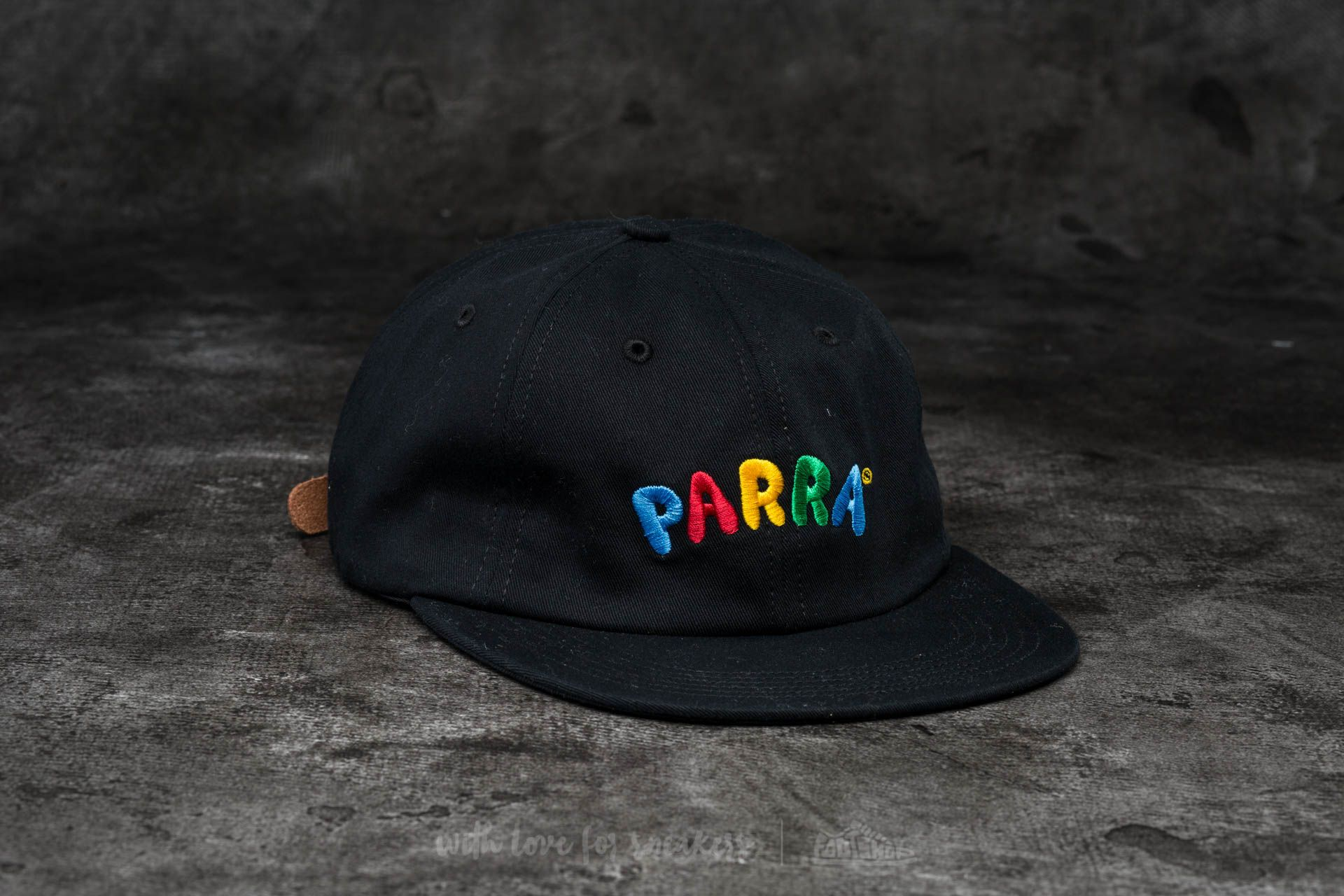 by Parra Toy Logo 6 Panel Hat Black  83d0aa8ca44a