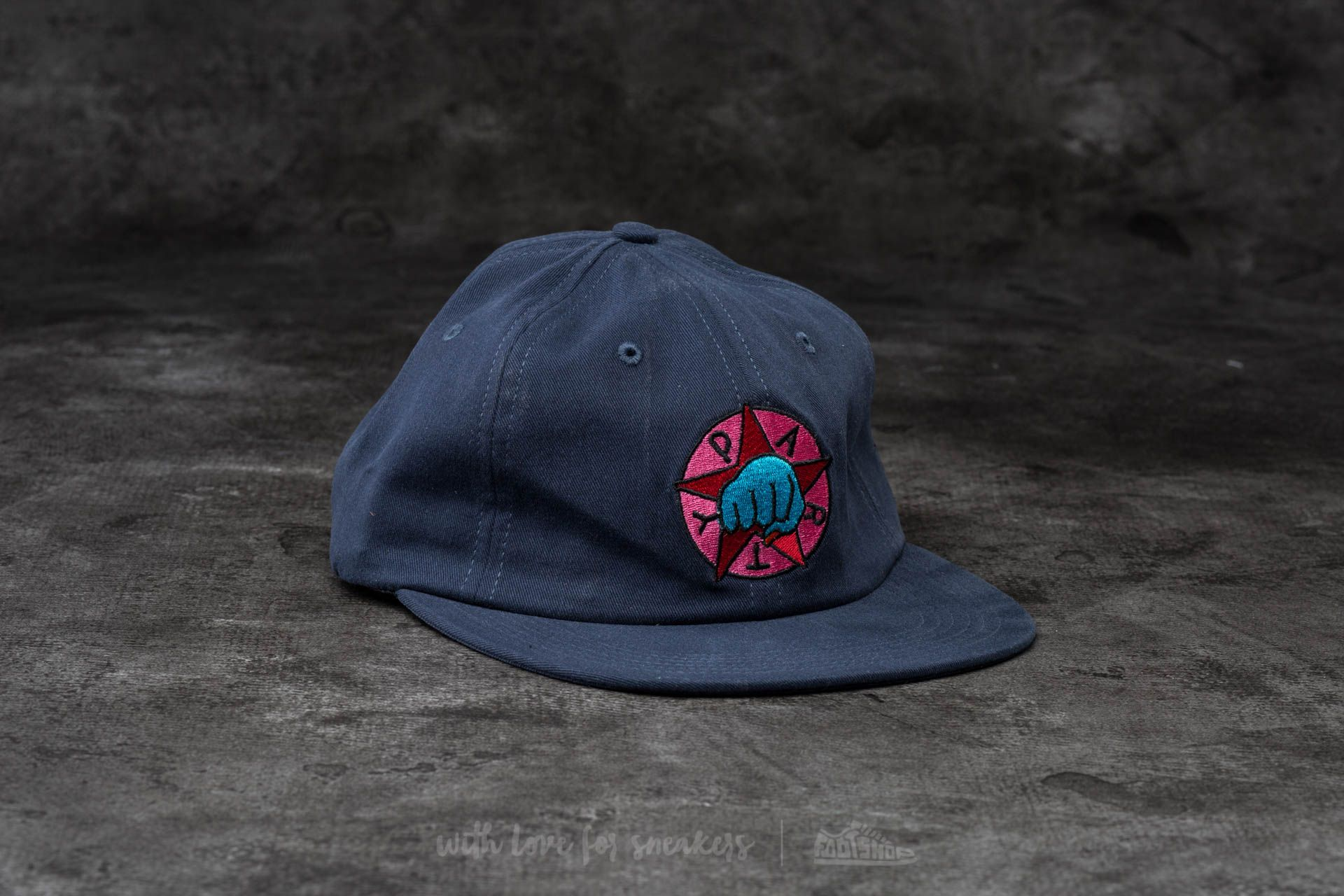 by Parra Party 6 Panel Hat Navy Blue  74eacb5e9ce6