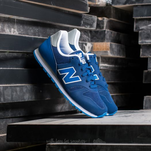 New Balance 373 Grey with Royal Blue & White   sneakers