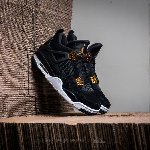 new product 351b6 f1e35 Air Jordan 4 Retro Black/ Metallic Gold-White | Footshop