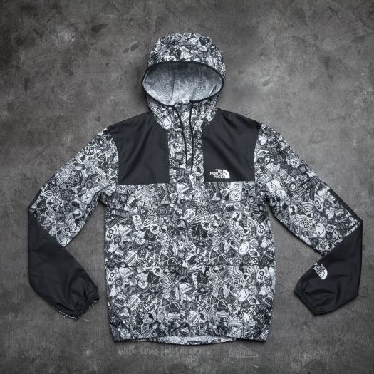 the north face black white jacke