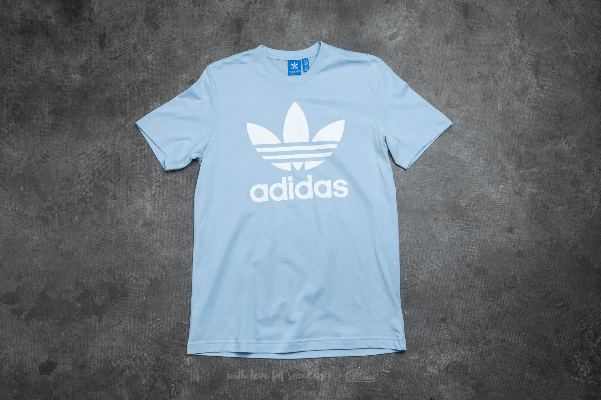 lace up in the cheapest clearance prices adidas Originals Trefoil Tee Easy Blue | Footshop