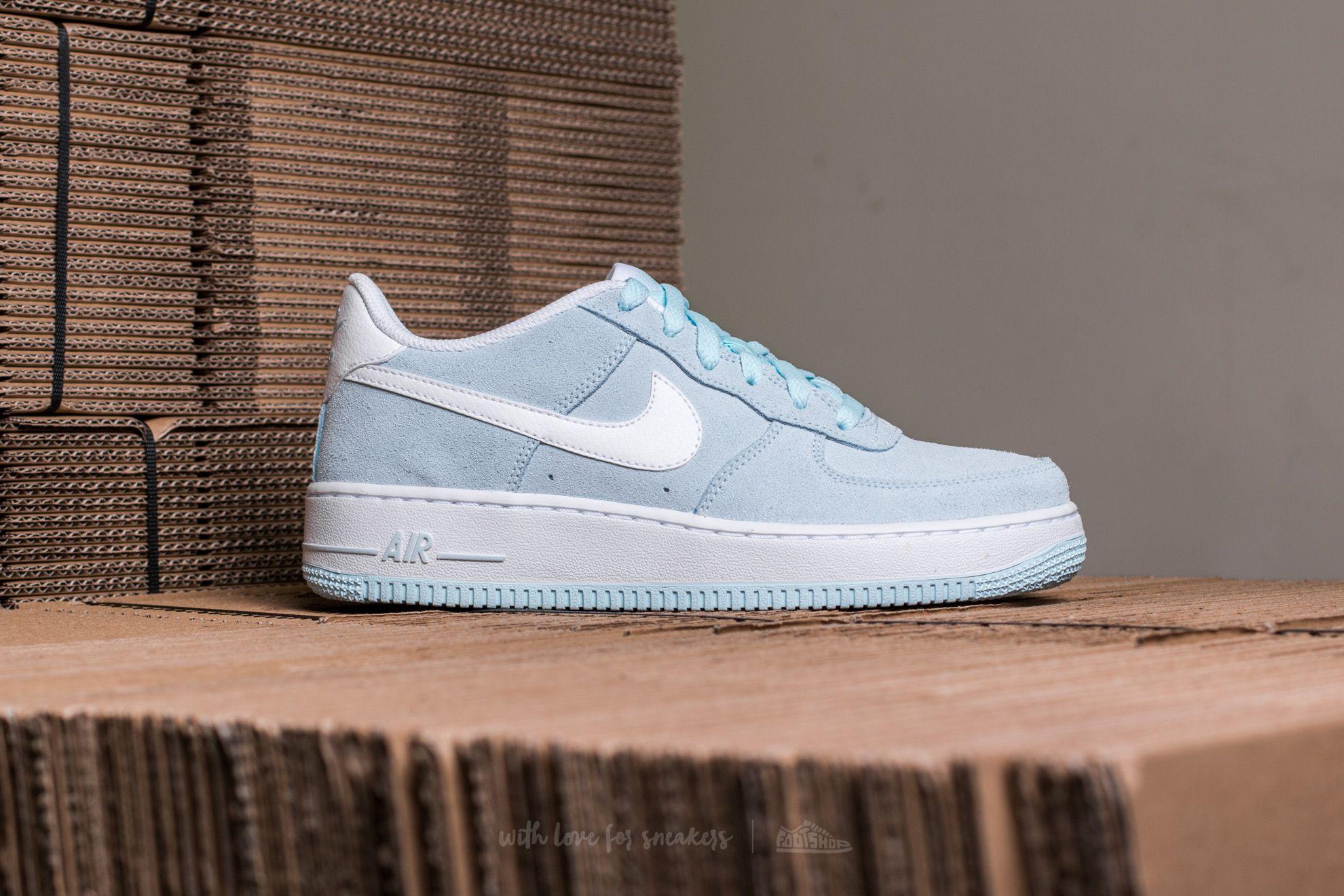 Nike Air Force 1 (GS) Glacier Blue White | Footshop